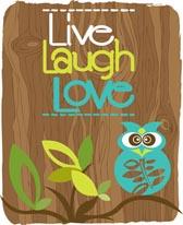 Live Laugh Love Owl mural
