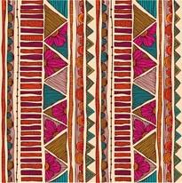Ethnic Stripes mural