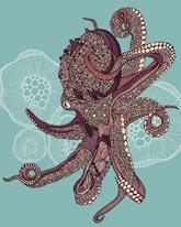 Octopus Bloom mural