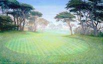 Cypress Point - 18th Hole mural