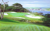 15th Hole At Cypress Point mural