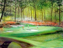 12th Hole At Augusta mural