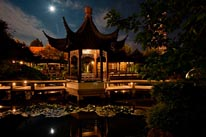 The Moon Locking Pavilion in the Lan Su Chinese Garden mural