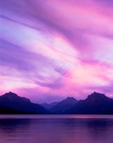 Lake Macdonald Sunset From Apgar Glacier National Park Montana mural