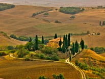 San Quirico Val D Orcia Valley Tuscany mural