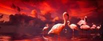 Flamingo Sunset mural