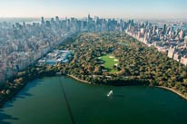 Central Park by Helicopter mural