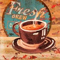 Coffee Brew I mural