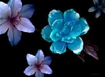 Azur Floral Deep mural