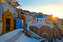Sunrise on Santorini Island, Greece  mural