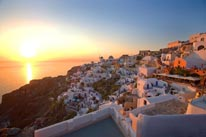 Sunset on Santorini Island, Greece mural