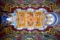 Ceiling of the Cathedral in the Monastery of Melk, Austria mural