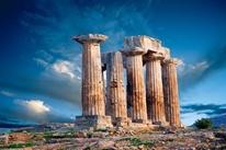 Ruins of Corinth, 8th century B.C., Greece  mural