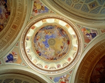 Ceiling of Cathedral of Eger, Hungary  mural