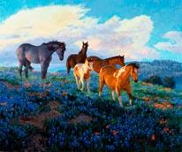 Blue Bonnet Sunrise mural