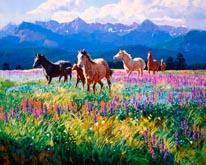 Wildflower Summer mural