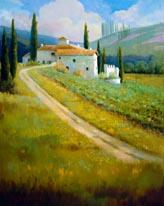 Tuscany Vineyard mural