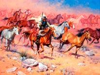Fine Horses And Bad Men mural