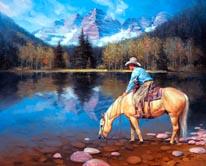 Colorado Cowboy mural