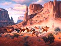 Sandstone And Stolen Horses mural