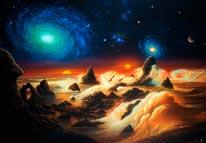 Spiral Nebulae mural