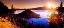 Crater Lake Oregon mural