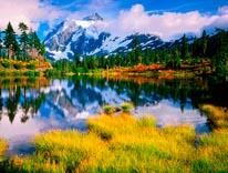 Mount Shuksan  Picture Lake Washington mural