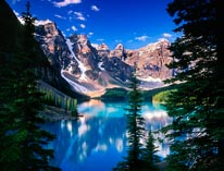 Moraine Lake In The Valley Of The Ten Peaks mural
