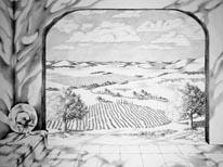 Tuscany Paradise mural